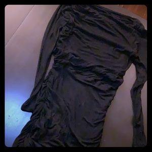 Theory slouchy black dress